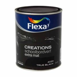 Flexa Creations schoolbordenverf extra mat - wit - 0,5 liter