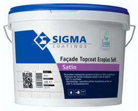 Sigma Facade topcoat ecoplus Soft Satin - Wit - 2,5 liter