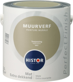 Histor Perfect Finish Muurverf Mat - Geordend 6924 - 2,5 Liter - SCHADEBLIK