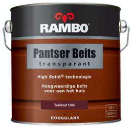 Rambo Pantser Beits Transparant Hoogglans - Teakhout 1204 - 2,5 liter