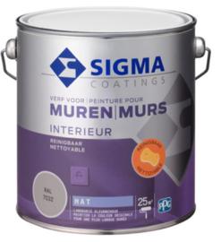Sigma Muurverf Mat Reinigbaar - RAL 7016 antracietgrijs - 2,5 liter