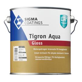 Sigma Tigron Aqua Gloss - Wit - 2.5 liter