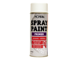 Mondial Spray Paint Primer - Wit - 400 ml