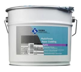 Sigma Multifinish Aqua Cladding Satin - WIT - 10 liter
