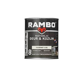 Rambo Pantserlak Deur en Kozijn Dekkend Zijdeglans - Cremewit 1110 - 0,75 liter