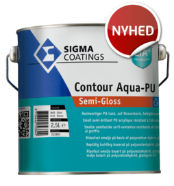 Sigma Contour Aqua-PU Semi-Gloss - Wit - 2,5 liter