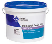 Sigma Sigmacryl Decor Soft Semi-matt - Wit - 2,5 liter