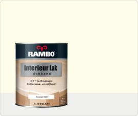 Rambo Interieur-/Vloer Lak Transparant Zijdeglans - Zuiverwit Ral 9010 - 0,75 liter