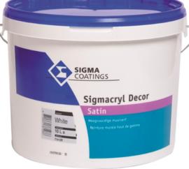 Sigma Sigmacryl Decor Satin - Wit - 5 liter