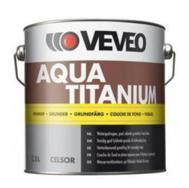 VEVEO Aqua Titanium PRIMER - WIT of alle lichte kleuren - 1 liter