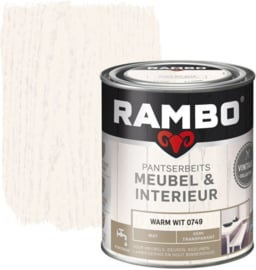 Rambo Pantserbeits Meubel & Interieur - Warm Wit 0749 - 0,75 liter