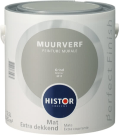 Histor Perfect Finish Muurverf Mat - Grind 6917 - 2,5 Liter