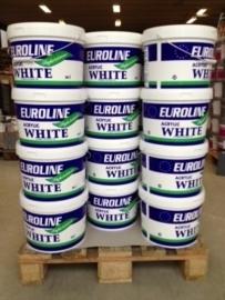 Euroline acryllatex - Wit of lichte kleuren - 10 liter