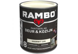 Rambo Pantserlak Deur en Kozijn Dekkend Hoogglans - Cremewit 1110 - 0,75 liter