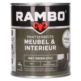 Rambo Pantserbeits Meubel & Interieur - Riet Groen 0743 - 0,75 liter