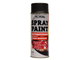 Mondial Spray Paint Hittebestendig - Zwart - 400 ml