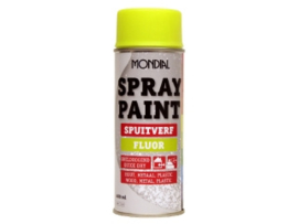 Mondial Spray Paint Spuitverf Fluor - Oranje - 400 ml