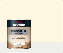 Rambo Interieur-/Vloer Lak Transparant Zijdeglans - Cremewit Ral 9001 - 0,75 liter