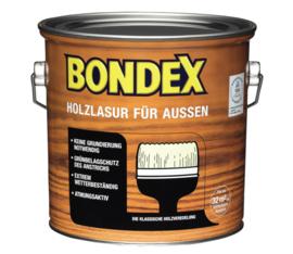 BONDEX Transparante beits voor buiten - zeer duurzaam 2,5 liter - licht eiken - eiche hell 795