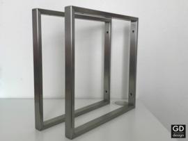 Wandsteunen Pato RVS vierkant koker 3x1,5cm, 39,5x39,5cm
