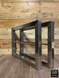 Rvs plankdragers met handdoekstang maatwerk PATO