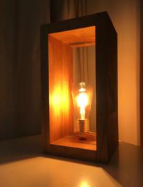 Tafellamp oud teak rechthoekig handgemaakt