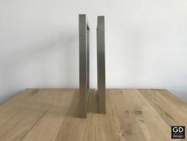 Set maatwerk wandsteunen vierkant PATO rvs koker 3x3cm, 40x40cm