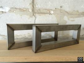 Set maatwerk wandsteunen RAW koker 4x4 cm brut, 44x17cm