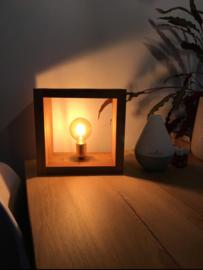 Tafellamp oud teak vierkant handgemaakt