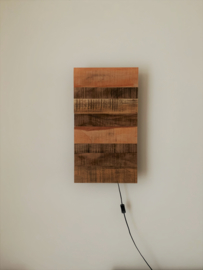 Wandlamp reclaimed wood 70x40x14cm
