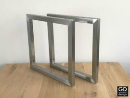 Wandsteunen RVS PATO 39,5x39,5cm koker 3x3cm direct leverbaar