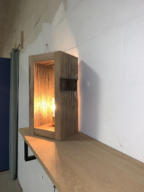 Tafellamp hout wagonplanken