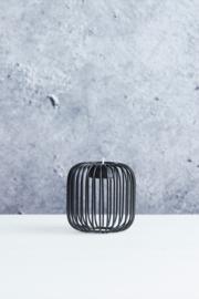 Theelichthouder Point-Virgule Wire zwart * D9,5cm / H9,5cm