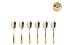 Koffielepeltjes Amefa Vintage -  goud * set van 6
