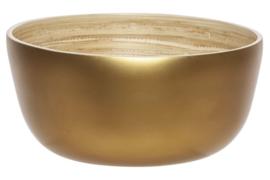 Bowl goud rond bamboe