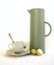 Koffie- / theetas greige + onderbord