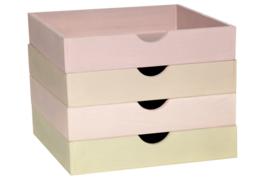 Servethouder / houten dienbordje * verschillende kleuren