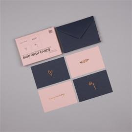 Set minikaartjes * 4 soorten