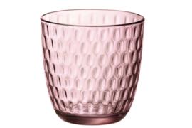 Waterglas Bormioli Slot - roze *  set van 6