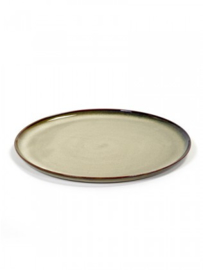 SET VAN 4 X Dinerbord Terres Des Rèves - Misty Grey - diameter 26 cm