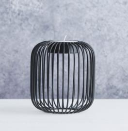 Theelichthouder Point-Virgule Wire zwart * D13 cm / H14cm