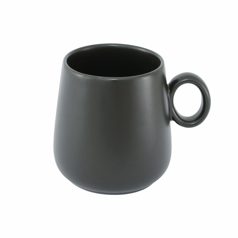 Point- Virgule Mok uit porselein zwart 400ml