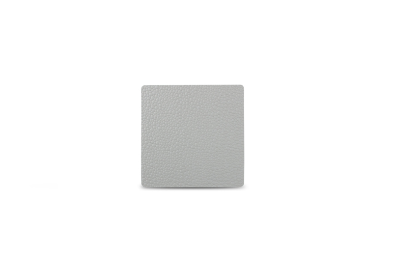 Glas onderzetter Tabletop S&P leder grijs / set van 4