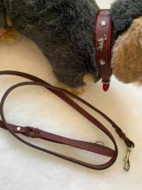 lederen halsband edelweis ( zonder lijn)