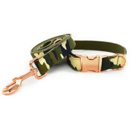 camouflage halsband en lijn