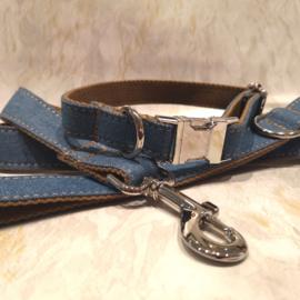 jeans / beige halsband en lijn