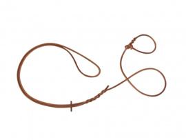 geluidloze omhanglijn 6mm /185 cm in rundleder voor de teckel