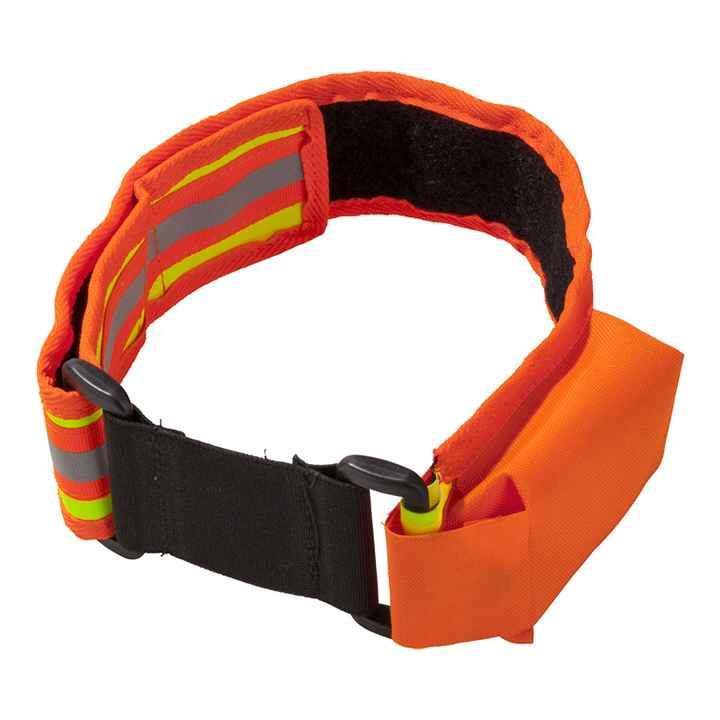 fluo halsband met zakje voor gps Heim