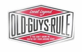 OLD GUYS RULE   'LOCAL LEGEND III' DECAL