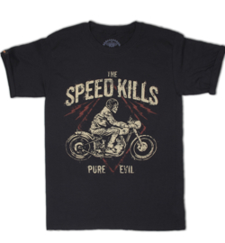 LA MARCA DEL DIABLO SPEED KILLS BLACK T SHIRT